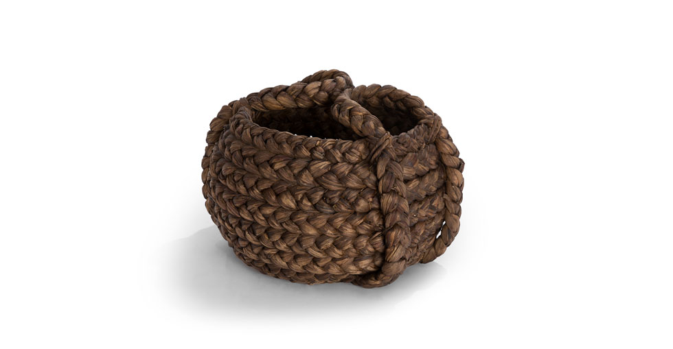 Tress Brown Small Basket