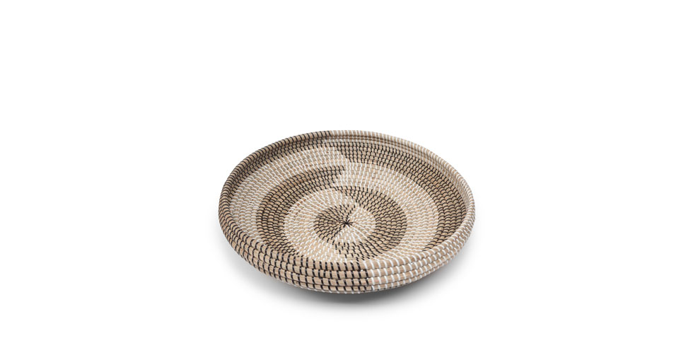 Helix Black White Herringbone Bowl