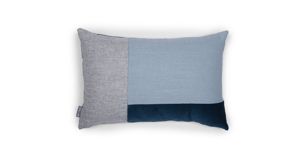 Velu Blue / Gray Rectangular Pillow