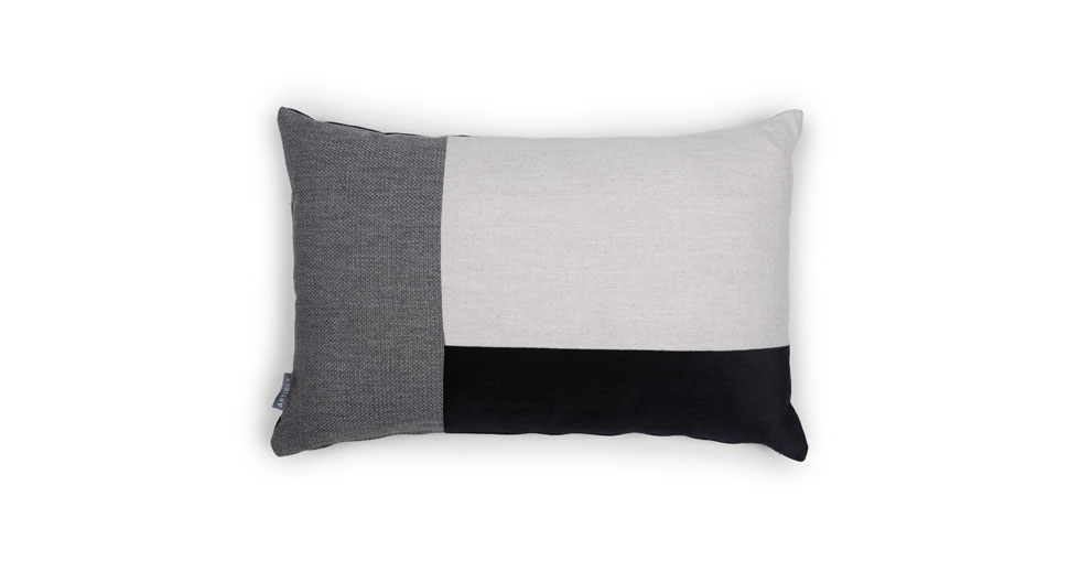 Velu White / Black Rectangular Pillow