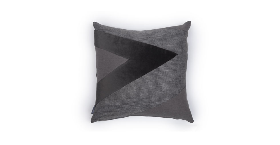 Velu Light / Dark Gray Square Pillow