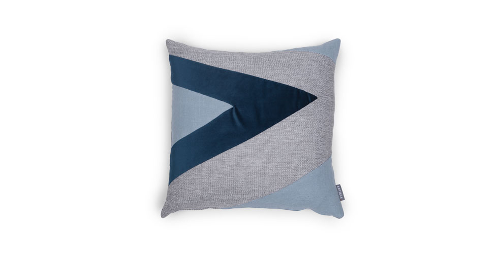 Velu Blue / Gray Square Pillow