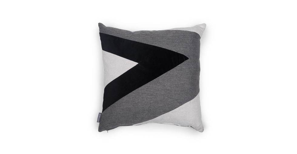 Velu White / Black Square Pillow