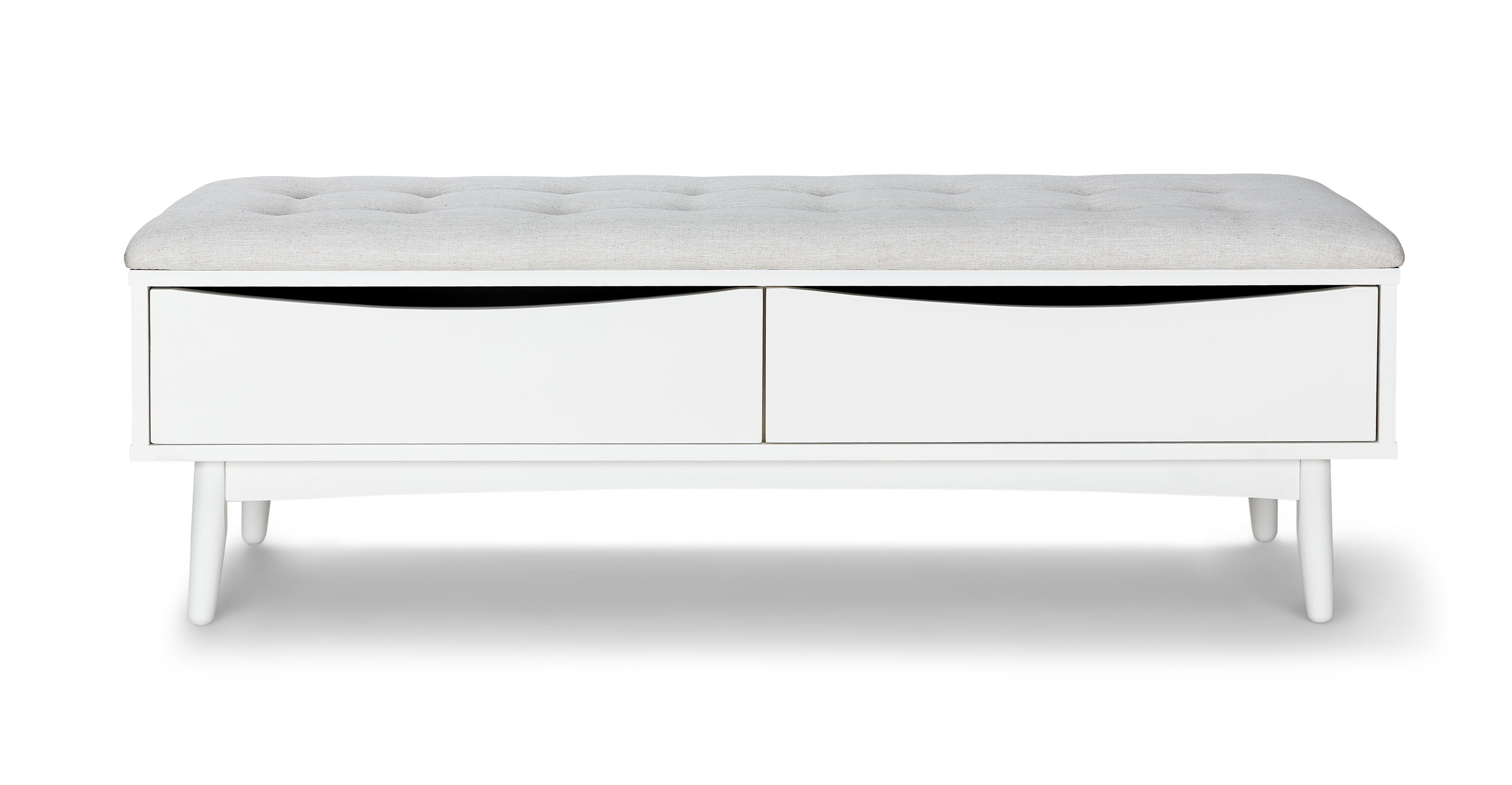 Culla White Bench Benches Article Modern Mid