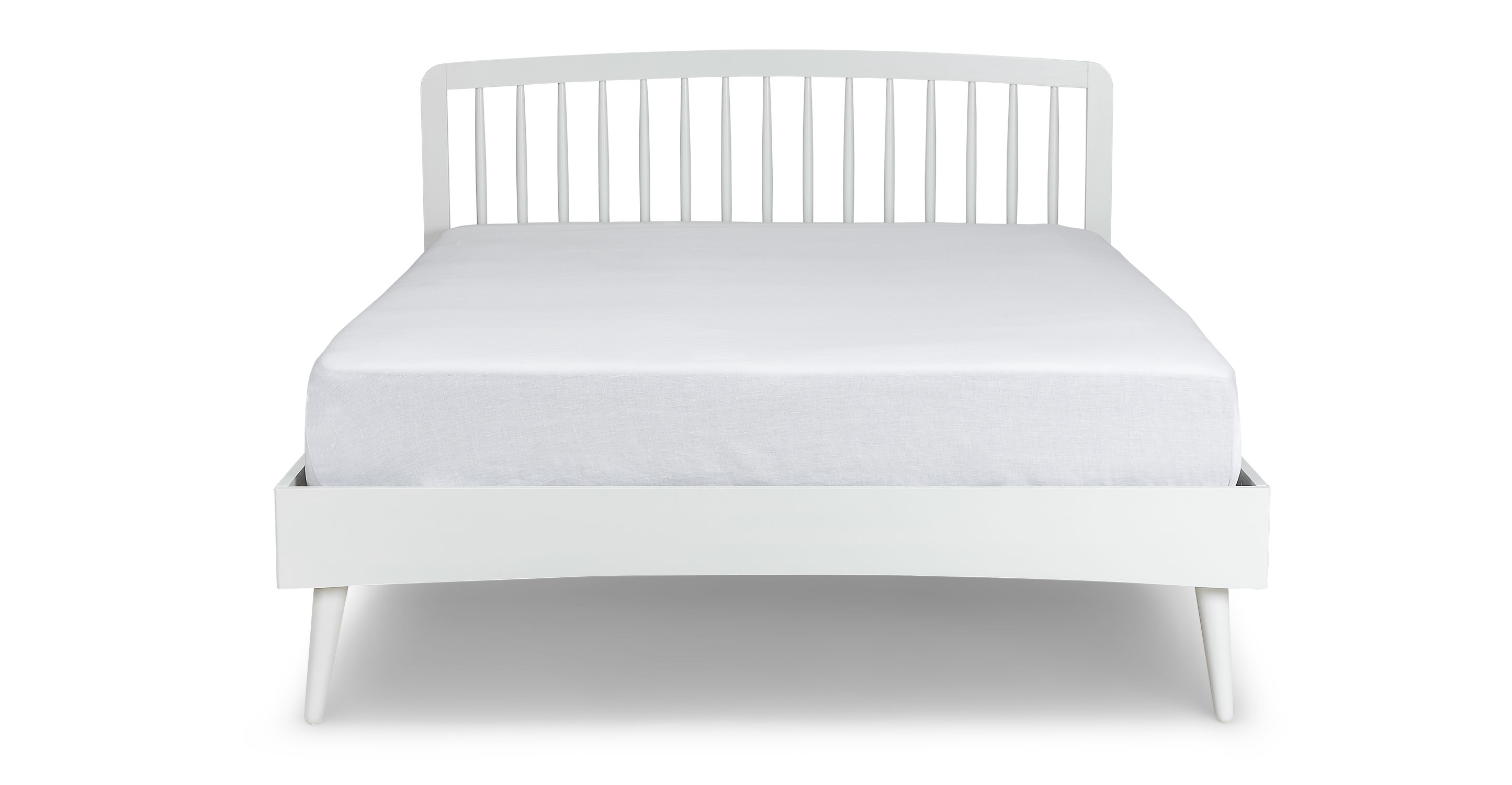 Culla Spindle White Full Bed Beds Article Modern