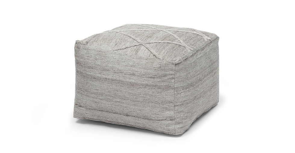 Diamin Raw Linen Pouf